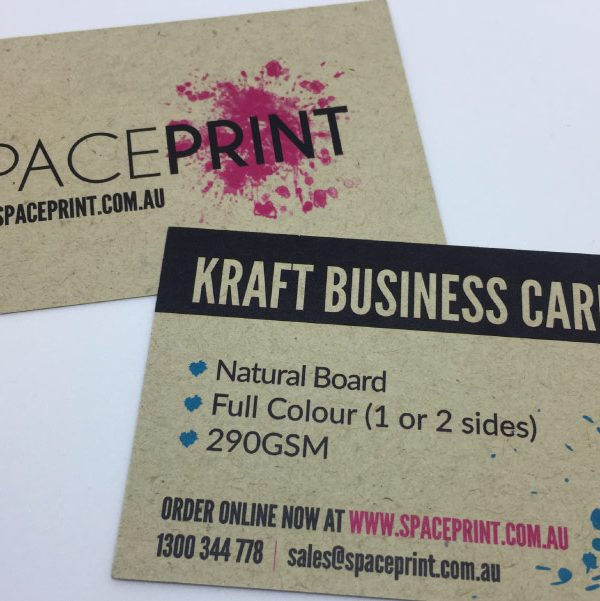 Print brown kraft business cards free delivery print kraft business cards reheart Images