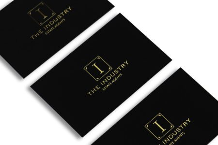 gold foiling business cards